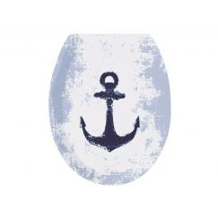 Lunette de WC Anchor bleu foncé 37 x 45 cm