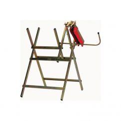 Support de scie à chaîne pr. chevalet de scieur en acier