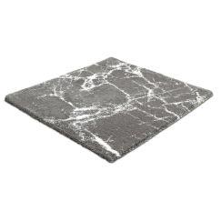 Tapis de bain Como platine 60 x 60 cm