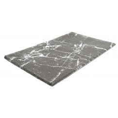 Tapis de bain Como platine 60 x 100 cm