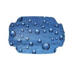Coussin Bubble bleu 32 x 22 cm