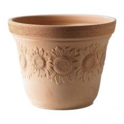 Pot en argile Girasole Dimension extérieure Ø cm:26, hauteur cm: 19