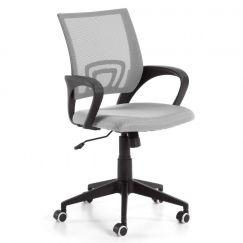 Chaise de bureau Ebor gris clair, noir