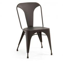 Chaise Malibu metal graphite