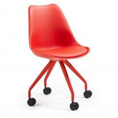 Chaise de bureau Lars rouge