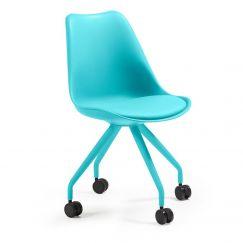 Chaise de bureau Lars bleu