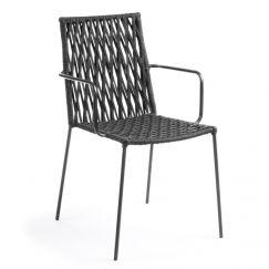 Chaise Bettie noir, gris foncé