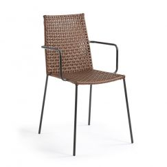 Chaise Blast noir, marron