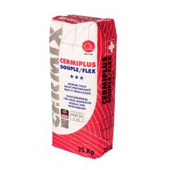 cermiplus Blanc, 25kg, mortier polyvalent avec d'excellentes propriétés d'adhérence et de flexibilité