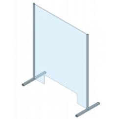 Protection en verre de sécurité trempé (ESG) et aluminium PRO-CV 2B 900 x 970 mm