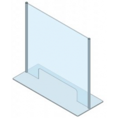 Protection en verre de sécurité trempé (ESG) et aluminium PRO-CV 4B 800 x 1198 mm