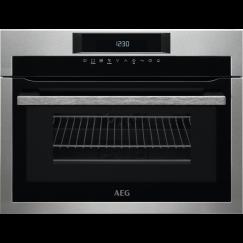 AEG BO4GEMKM, Four encastrable Compact 45 Micro-ondes solo, Acier inox