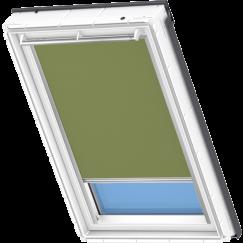 Store d'obscurcissement vert olive 134 cm x 140 cm VELUX INTEGRA® Solar automatique