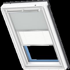 Store d'obscurcissement duo gris clair Store plissé blanc 55 cm x 78 cm