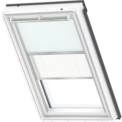 Store d'obscurcissement duo bleu clair Store plissé blanc 55 cm x 78 cm