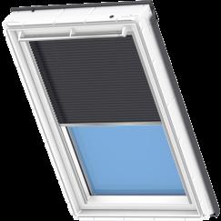 Store plissé bleu métallique 134 cm x 140 cm VELUX INTEGRA® Solar automatique