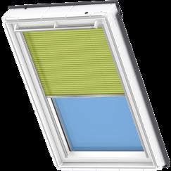 Store plissé vert clair 134 cm x 140 cm VELUX INTEGRA® Solar automatique