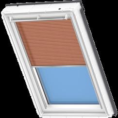Store plissé orange bronzé 134 cm x 140 cm VELUX INTEGRA® Solar automatique