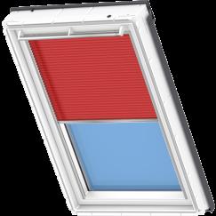 Store plissé rouge 134 cm x 140 cm VELUX INTEGRA® Solar automatique
