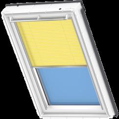 Store plissé jaune 134 cm x 140 cm VELUX INTEGRA® Solar automatique