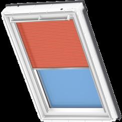 Store plissé orange 134 cm x 140 cm VELUX INTEGRA® Solar automatique