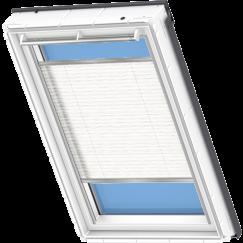 Store plissé blanc avec motifs vagues 55 cm x 78 cm