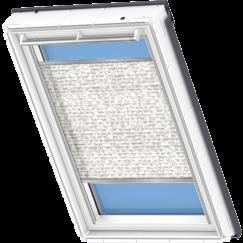 Store plissé blanc à motifs gris 55 cm x 78 cm