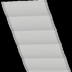 Store bateau gris quadrillé seulement tissu 134 cm x 140 cm