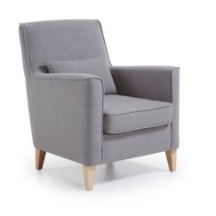 Salon Fyna gris, bois clair