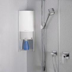 Showerbox, 2 éléments coulissants, 062 Platinum argent, H 570 mm